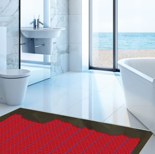 bathroom with heated hot floor