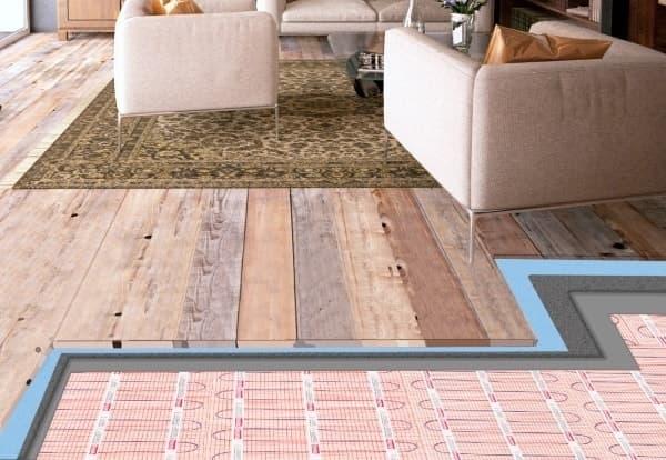 piso radiante sob piso laminado